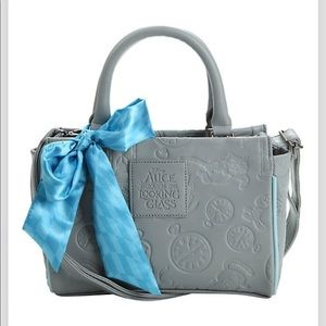 Loungefly Disney Alice grey embossed barrel bag